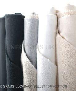 Sweatshirt Loop Back,Heavy 100% Cotton Bullet French Terry Fabric & Matching Rib