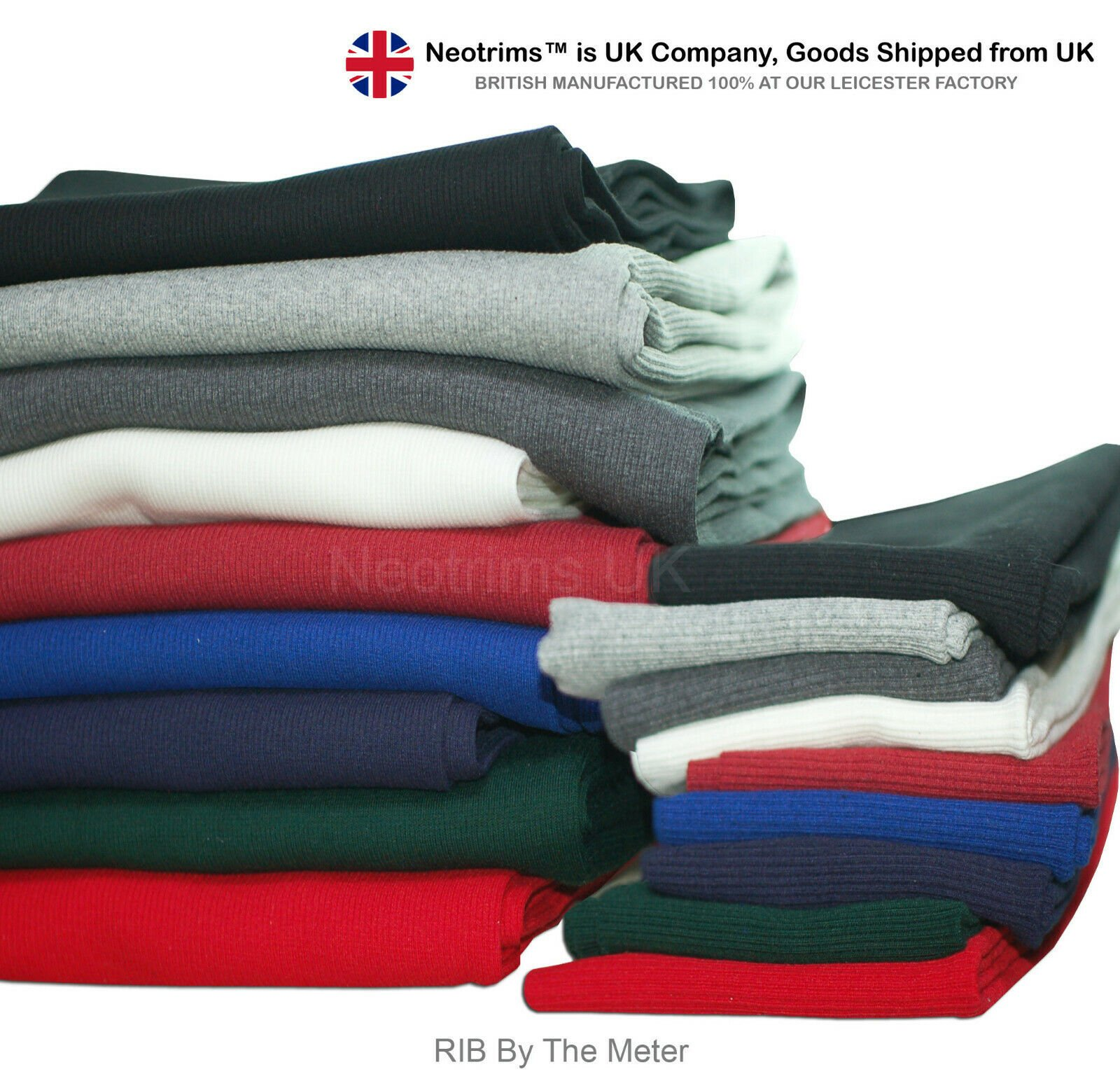 Knit Rib 2x2,Stretch Ribbing Matching Sweat Shirt Fleece Fabric Material,Neotrim