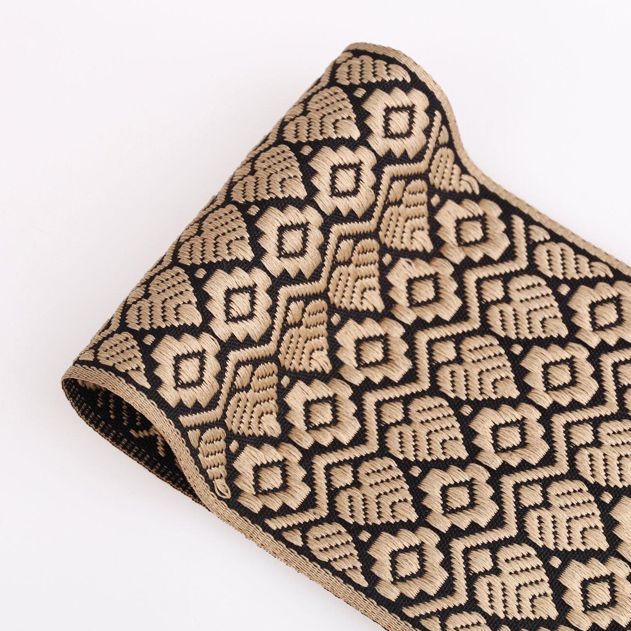 Neotrims naturel jute Motif Cachemire Jacquard,ornement décoration ruban Craft