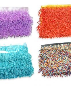 Beaded Fringe Trim,Glass Seed Bugle Bead Trimming,Home Décor,Costume,Clearance