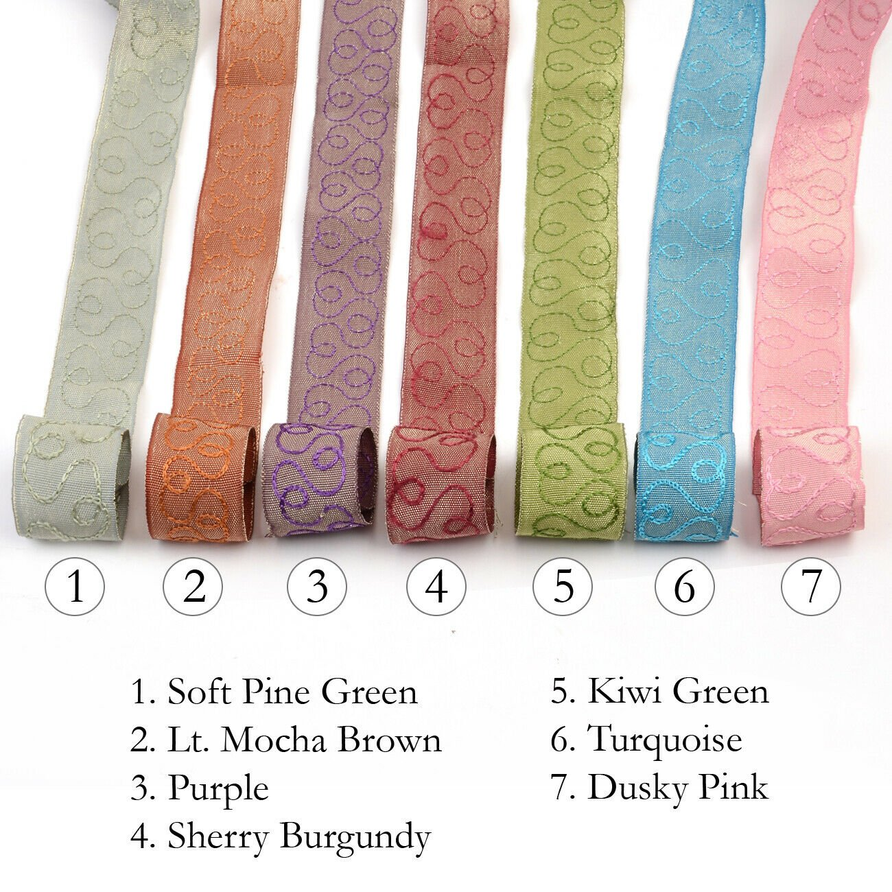 Cornelli Style Ribbon Trim Embroidery Embellished Braid 3cm, Pastel Sari Border