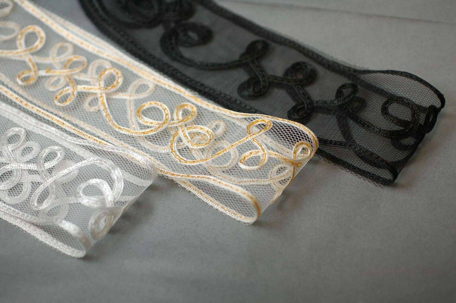 Neotrims Arts & Crafts Decorative Ribbon Trim Border Net Base Satin Tape Wedding