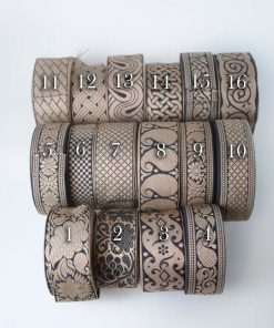 Neotrims Natural Jute Black Jacquard Paisley, Trimming Decoration Ribbon Craft