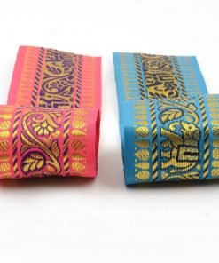 65mm Wide Indian Paisley & Elephant's Decorative Salwar Sari Trimming Ribbon