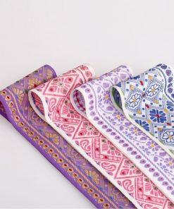 65mm Wide Indian Assam Geometric Floral Decorative Salwar Sari Trimming Ribbon