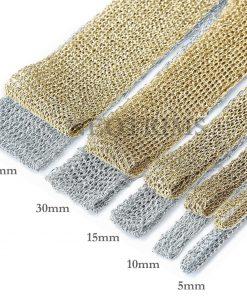 Metallic Gold Silver Trimming Ribbon Braid Lurex Textured Weave,5 Widths Neotrim
