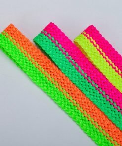 Fluorescent Ribbon Trimming Border Tape Braid,2 Colour Texture Pattern,Neotrims