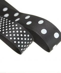 Neotrims Polka Dot Pattern Grosgrain Ribbon Ruban 22mm Craft Projects Home Décor