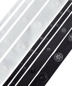 Snap Popper Tape Fasten Sew Ribbon,Big/Small Press Stud,High Strength,Many Sizes