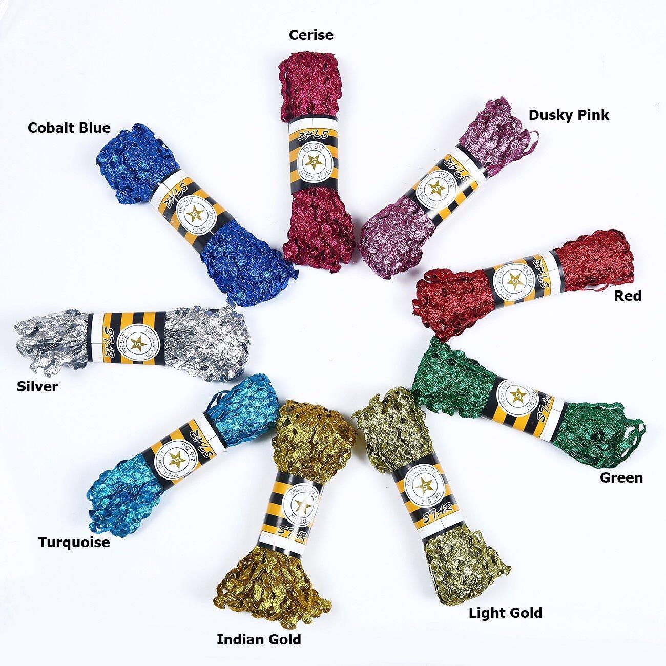 Metallic Glitter Ric Rac 6mm Ribbon Trimming Braid. Crafts & Apparel. Neotrims