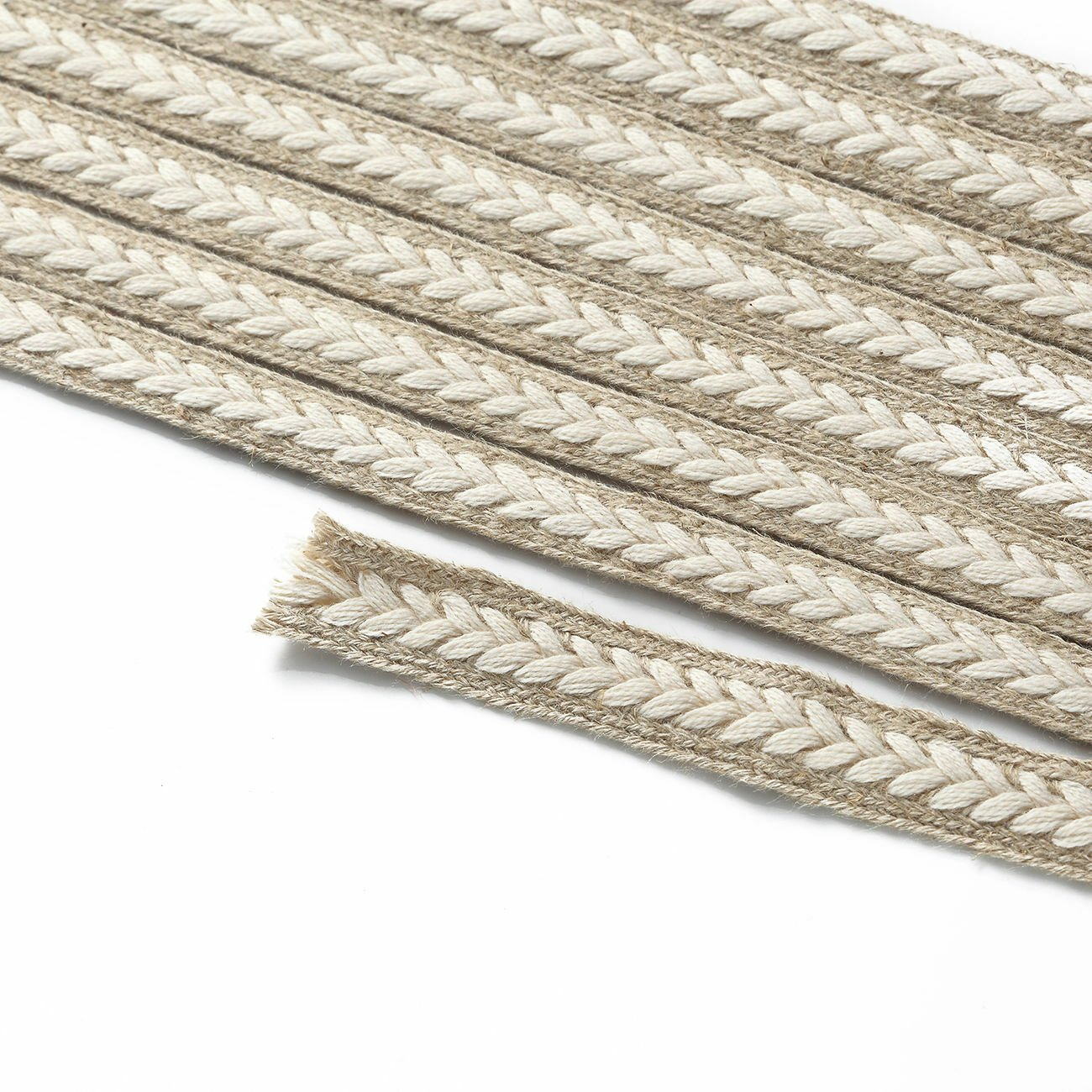 Neotrims Jute & Cotton Platted Rope Style Trimming Ribbon Braid,10mm Costume