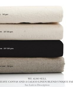 Calico Fabric 100% Cotton Natural Untreated,160cm,143gsm,5 meter & 1meter Length
