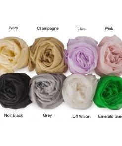 Neotrims Finest Luxury Chiffon 100% SILK Fabric, Georgette Soft, 8 Bridal Colour