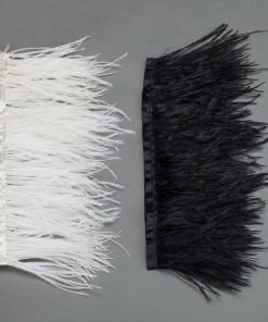 Neotrim Real Ostrich Feather Quality Satin Ribbon Trimming Fringe 9-11cm,from UK