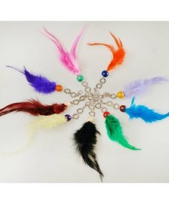 Neotrim Feather Keyring Fobs Pairs, for Decoration, Costume Party, Scrapbooking