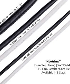 Faux Leather PU Cord Trimming Braid,Thick Jumbo 14mm,10mm & 5mm Rope String,Neo