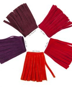 Neotrims Faux Suede Leather Tassel Fringe Trimming, 19 Colours, Boho Chic, Craft