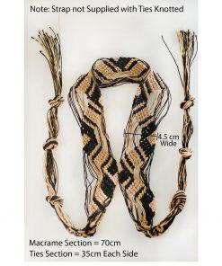 Macrame Crochet Trimming Strap Tape Viscose Cord Tie Fastening, Tieback Belt