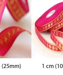 Neotrims Salwar Kameez Satin India Paisley Ribbon by the Yard 2 Size Combination