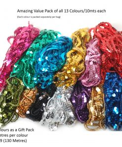 Sequin Trim 6mm Round Spangle String,Sewing Craft Costume Decoration Neotrims