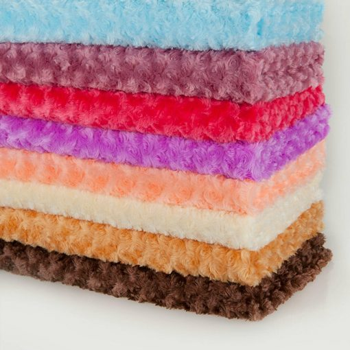 Neotrims Soft Pile Minkee Rose Fur Fabric 20 Colours, Baby Photography Backdrop