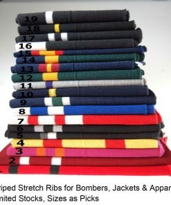Neotrims Knit Rib Cuff Waistband Fabric Trimming, Bomber Jackets Ribbing Welts