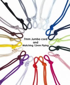 Thick Fat Hoddies Cord 6x6mm Drawstring,Insert Piping 12mm & Round Rope Tie 7mm