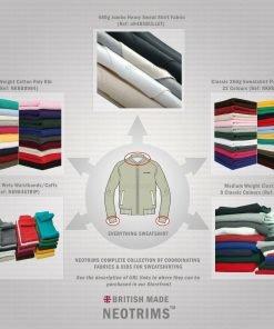 Neotrims Cotton Polyester Stretch Knit Rib Fabric Trim Garments Waistbands Cuffs