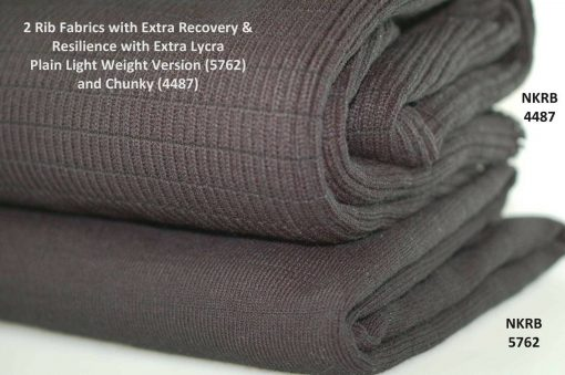 Neotrims Stretch Lycra Ribbed Fabric, Chunky Resilient Durable Knit Rib Fabric