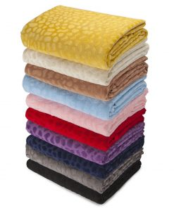 Neotrims Plush Soft Velour Cuddle Fabric Material, Pebble Pattern, Photography