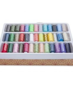 Grosgrain Ribbons,18 Cols,72 Yards Total + Sewing Threads 39 Cols Spools.Mix Box