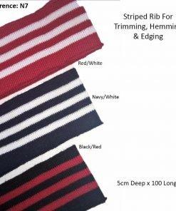Stripes Pattern Knitted Waistband Knit Ribs Welt Cuffs,Neck Band,Jackets,Stretch