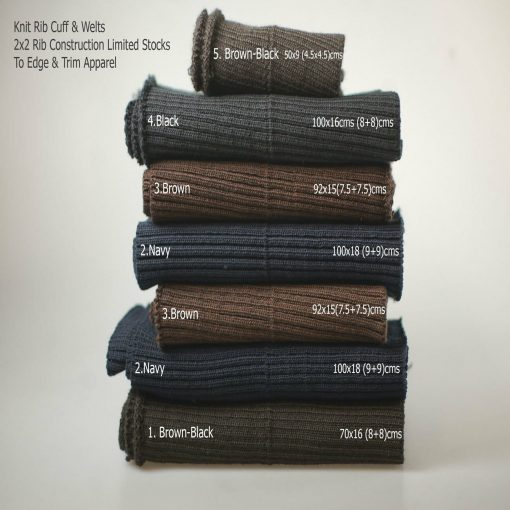 Neotrims Knit Rib Cuff Waistband 2x2 Ribbed Trimming,Bomber Jackets Ribbing Welt