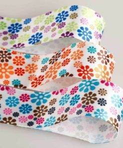 Neotrims Pretty Floral Pattern Satin Ribbon By The Yard Craft,Card Making,Cake